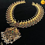 Stunning Silver Gold Plated Necklace From Sparsak Jewels