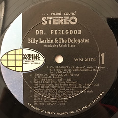BILLY LARKIN & THE DELEGATES:DR.FEELGOOD(LABEL SIDE-A)