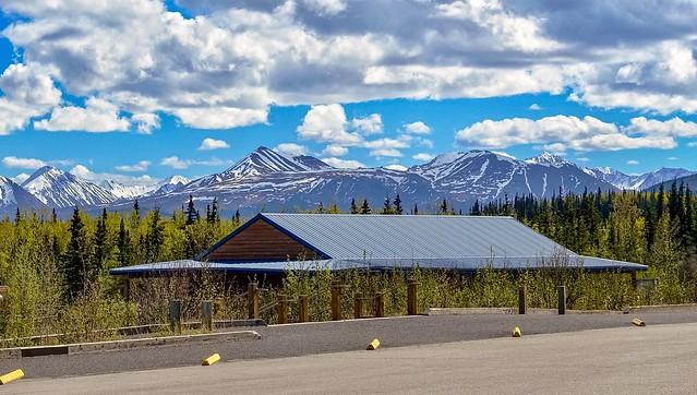 Denali National Park Railroad Station, located at mile 1.25 on the Denali Park Road.