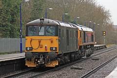 Caledonian Sleeper Class 73 73971 warwick 03-03-19
