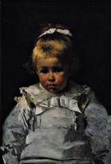 8 - Courbevoie - Musée Roybet Fould - Ferdinand Roybet, Portrait de Mlle Brame, 1876, Huile sur panneau