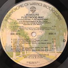 FLEETWOOD MAC:RUMOURS(LABEL SIDE-B)