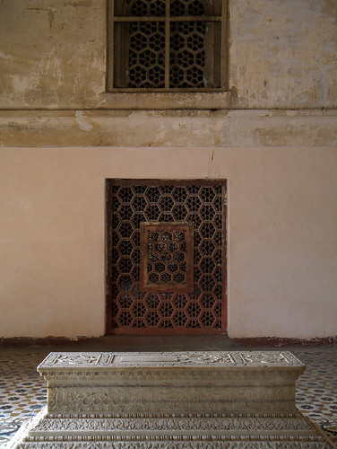 A tomb in Akbar's Mausoleum in Agra, India