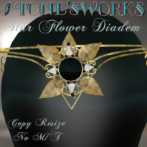 Star Flower Diadem Gld Stone's Works