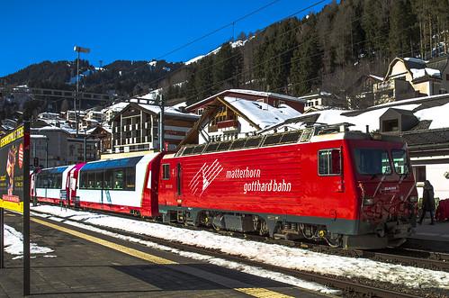 Matterhorn Gotthard Bahn MGB 2 Distentis-Mustér 17 februari 2019