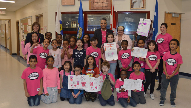 Support bullying prevention on Pink Shirt Day