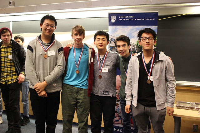 2019 UBC Physics Olympics Top Teams