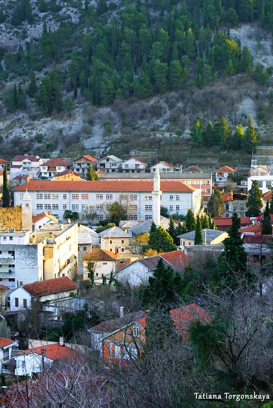Вид на центр Стоца с дороги к крепости