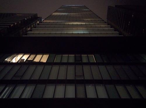Looking up, Vox Condos #toronto #night #voxcondos #lights #towers #wellesleystreeteast #churchandwellesley #yongeandwellesley