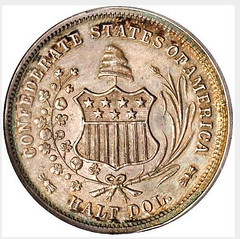 Confederate Half Dollar Scott Restrike reverse