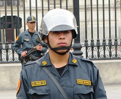 police near pres palace