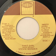 STEVIE WONDER:THAT GIRL(LABEL SIDE-A)