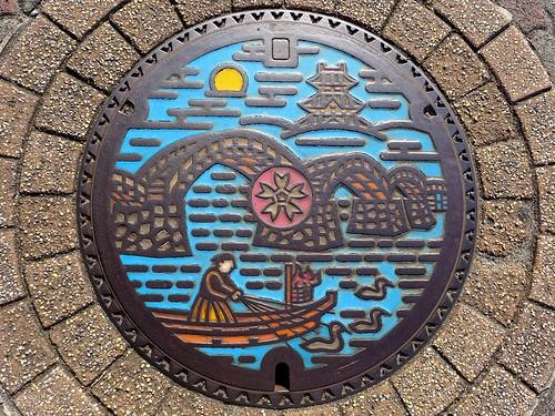 Iwakuni Yamaguchi, manhole cover 2 (山口県岩国市のマンホール2)