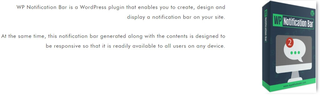 WP Notification Bar WordPress Plugin