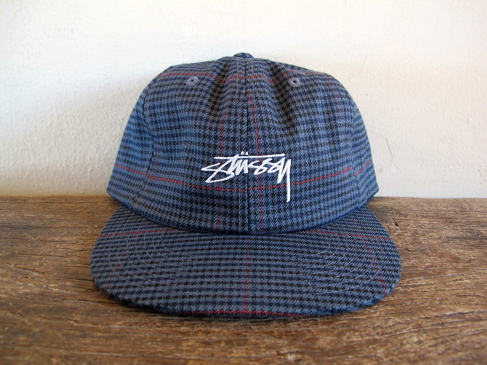 0a068e93cc0257 STUSSY Small Check Grey Plaid 6-Panel Strapback Hat brand new without tags  | 100% authentic | super rare