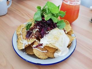 Mexican Mince Nachos at Flora
