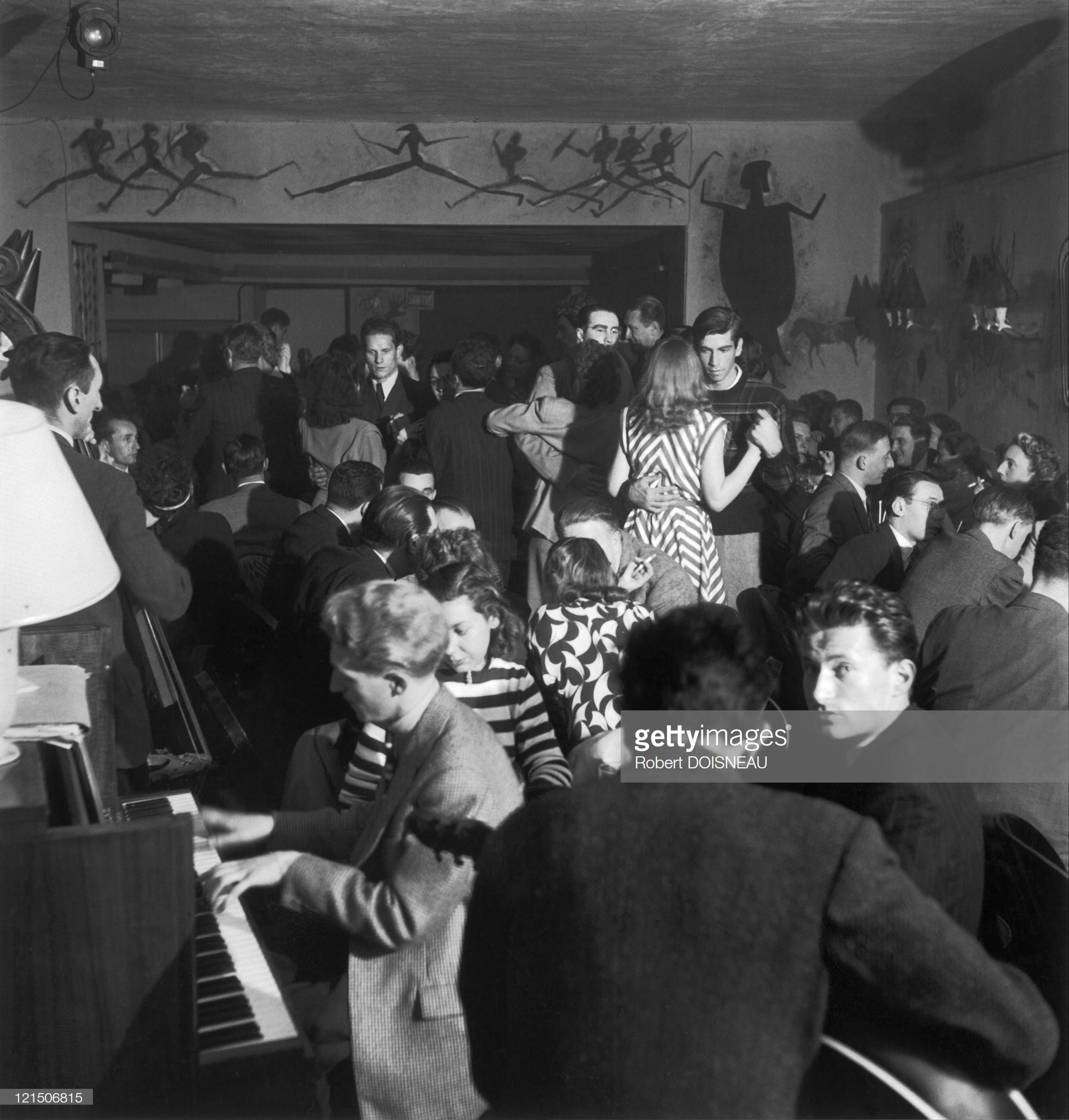 1947. Роже Вадим, танцующий в Красной розе, Сен-Жермен-де-Пре