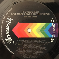 THE CHI-LITES:(FOR GOD'S SAKE)GIVE MORE POWER TO THE PEOPLE(LABEL SIDE-A)