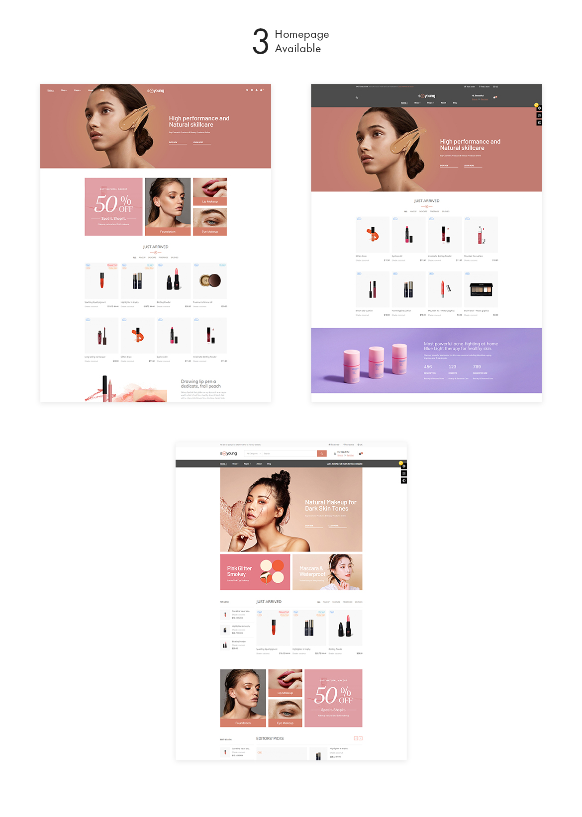 multi homepag-Leo Sooyoung-Cosmetic and Beauty prestashop theme