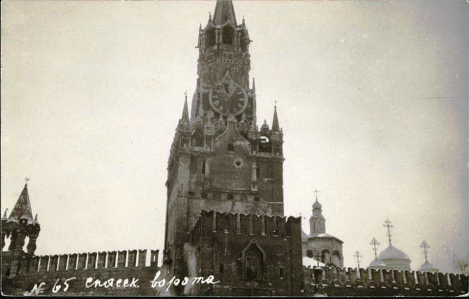 спасская башня 1917