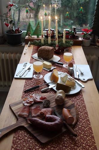 Frühstück am Samstag vor Weihnachten