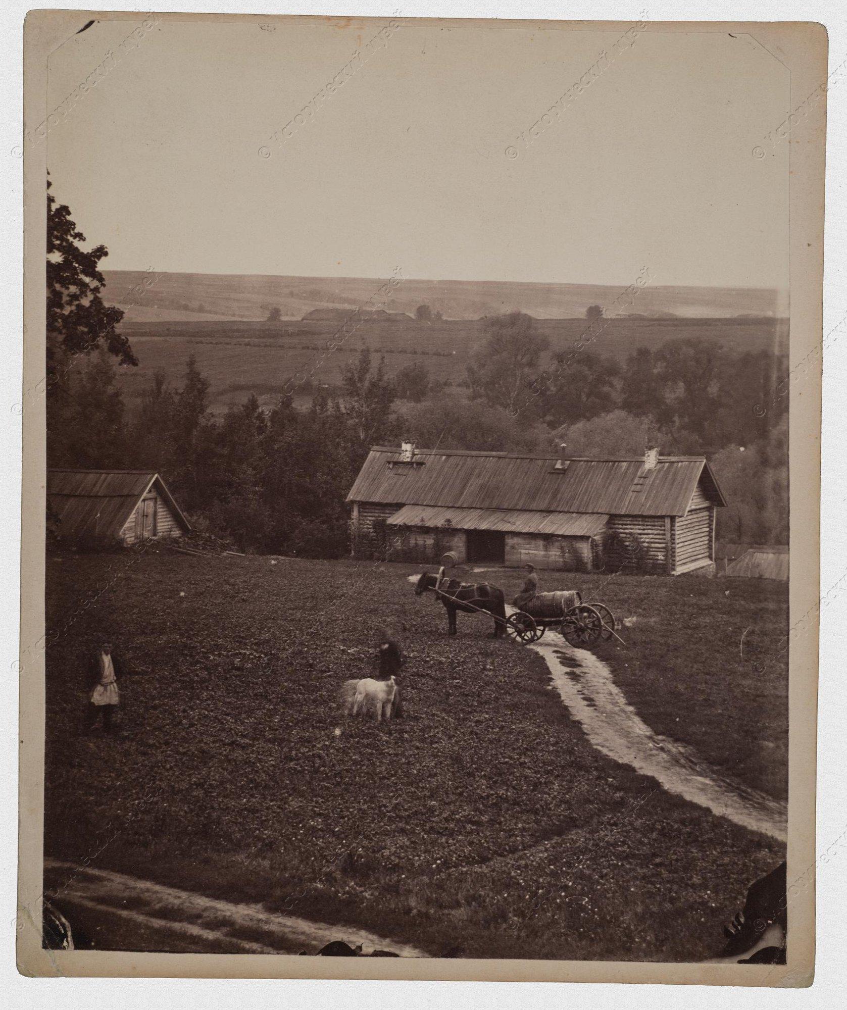 1860-е. Усадьба Уты. Вид хозяйственных построек