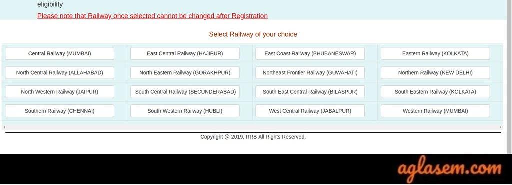 RRC Group D Choose Railway 2019