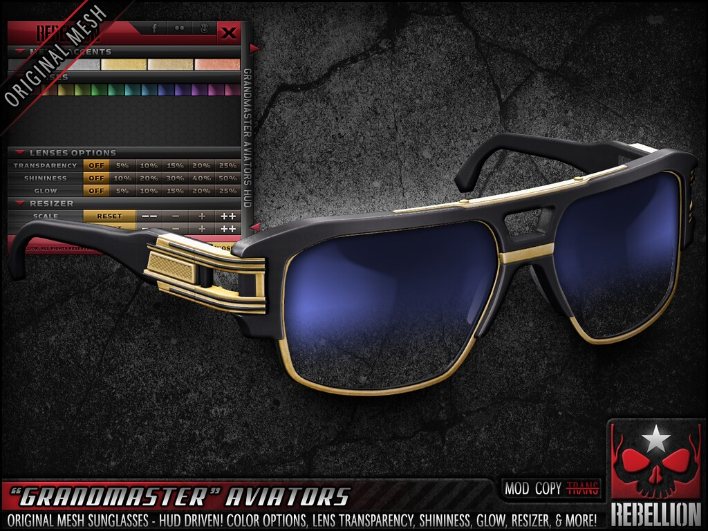 "= REBELLION = ""GRANDMASTER"" AVIATORS"