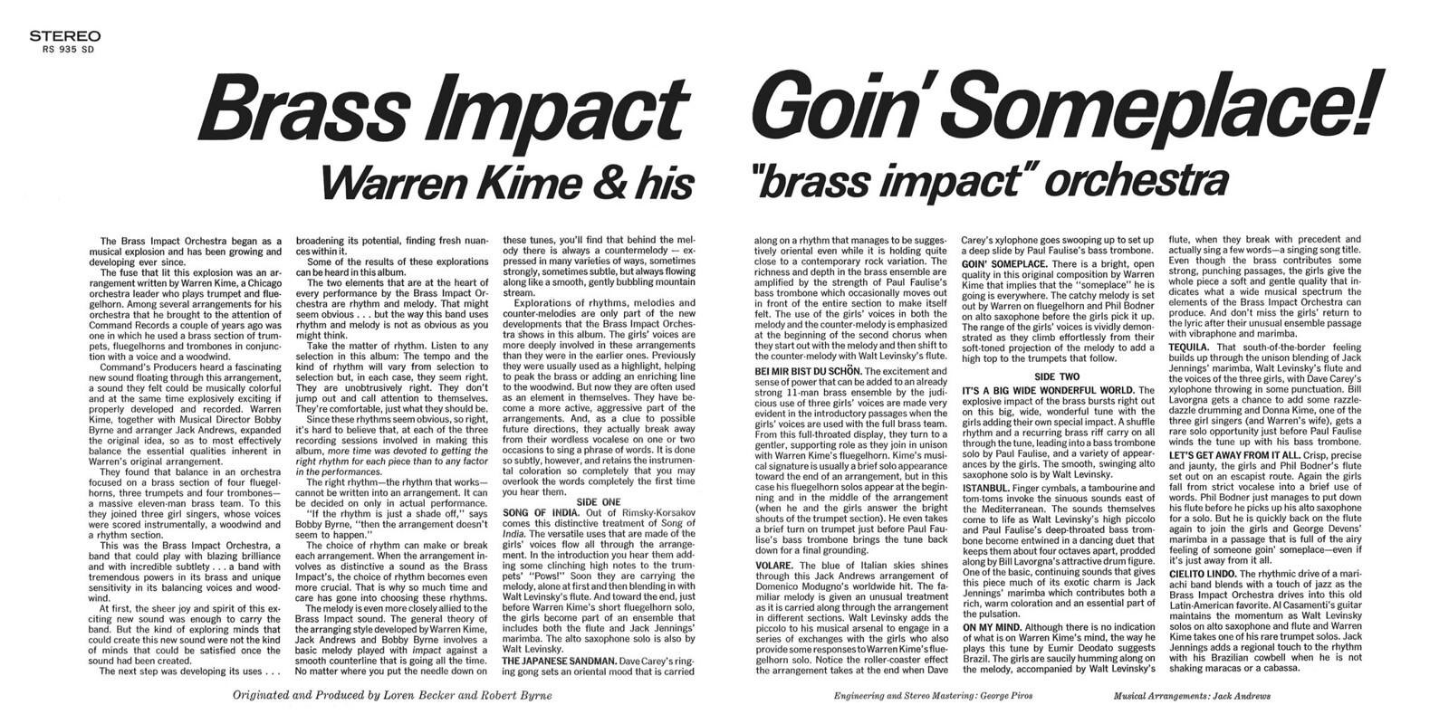 Warren Kime - Brass Impact, Going Someplace