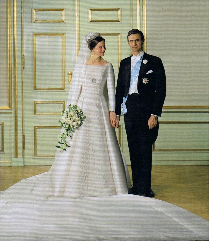 Princess Margrethe and Prince Henrik of Denmark wedding photo