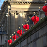 Chinese lanterns at the Harris, Preston