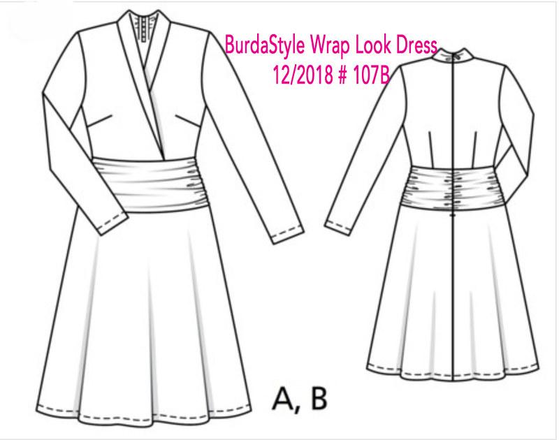 Burdastyle jersey dress tech drawing