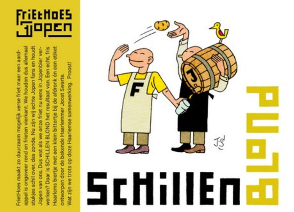 Schillen bier Blond Friethoes en Jopen