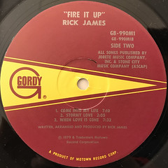 RICK JAMES:FIRE IT UP(LABEL SIDE-B)