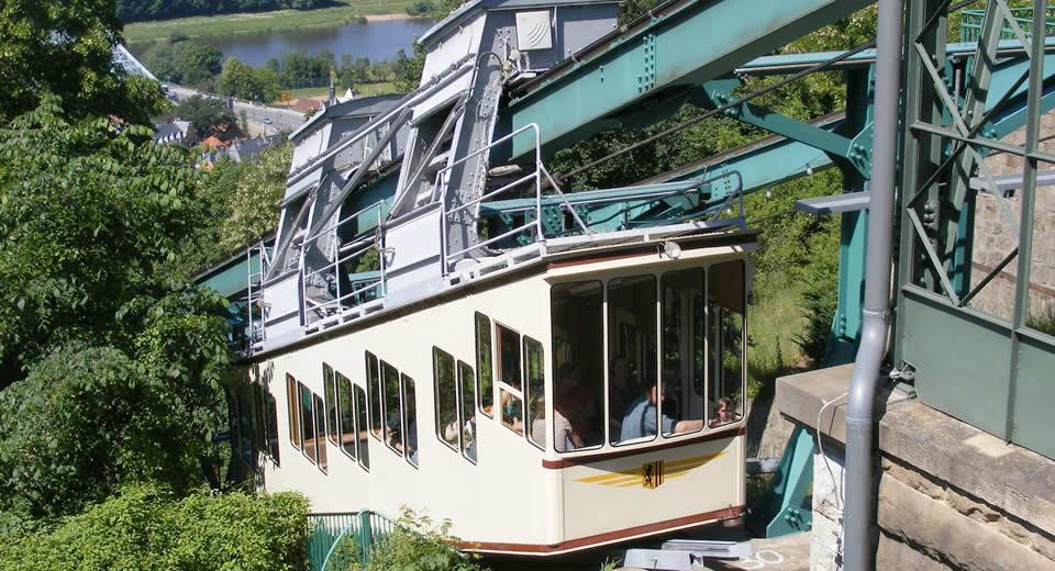 Dresden, Loschwitz: kabelbaan van Dresden | Mooistestedentrips.nl