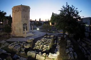 Athens at sundown
