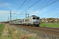 BB 7309 + Intercités 3705, Canals, Sunday 3 March 2019