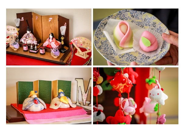 ひな祭り ひな人形 和菓子 吊るしびな