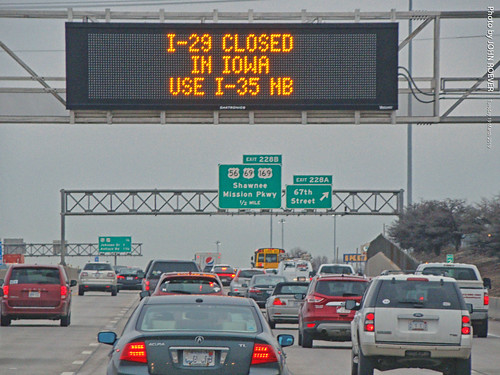 I-29 Closure Message on KC Scout Sign, 19 Mar 2019