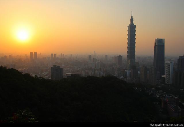 View from Xiangshan at Sunset, Taipei, Taiwan
