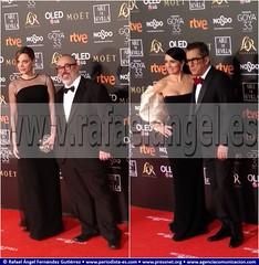 Premios Goya 2019 . 2019 Goya Prizes. Carolina Bang, Actriz, Álex de la Iglesia, Director de Cine. Silvia Abril, Actriz, Andreu Buenafuente, Humorista