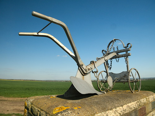 Monument to commemorate to 4th  world ploughing championships in 1956