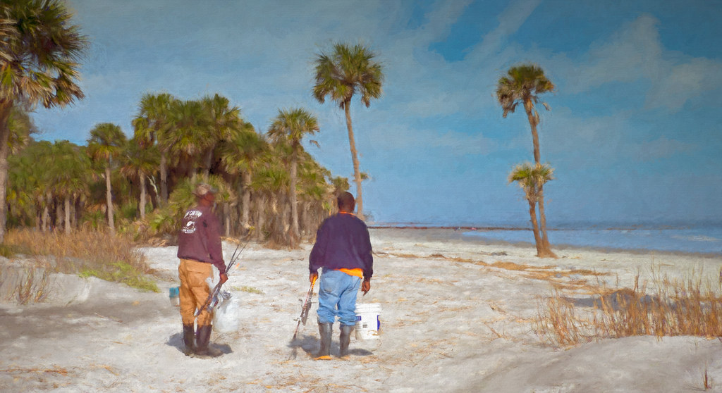 Fishing on Hunting Island, SC-3 - Download Photo - Tomato to