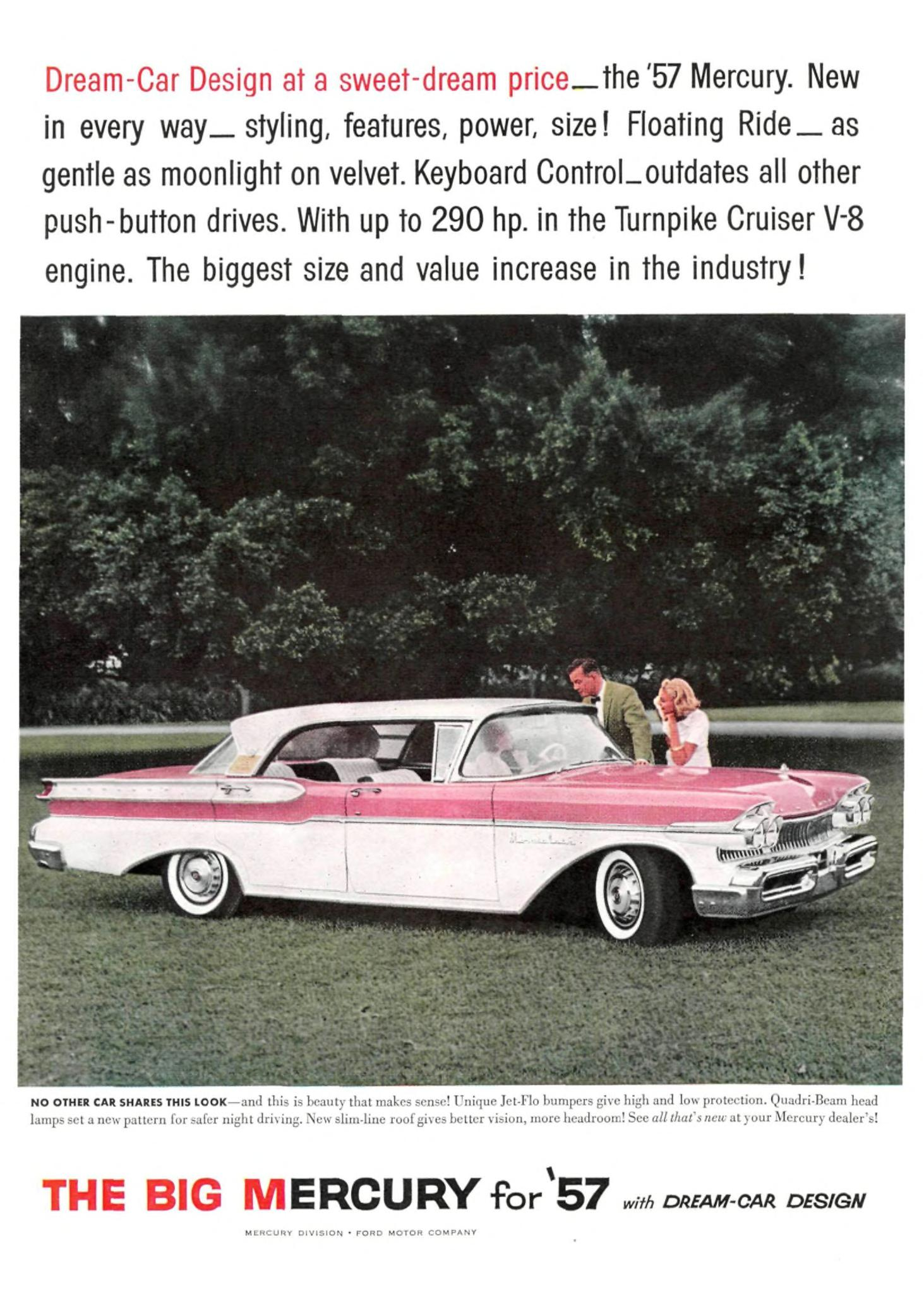 1957 Mercury Turnpike Cruiser - published in Sports Illustrated - February 11, 1957