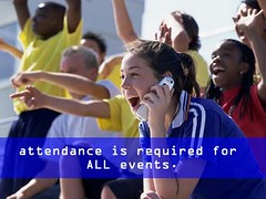 Camp Rule:  Required attendance at camp events