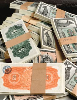 Valores de la nación banknotes banded