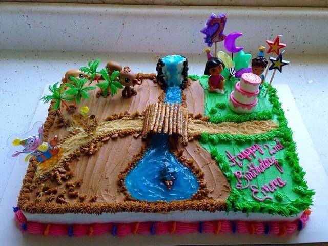 Dora the Explorer Cake by Sue B-Schultheis