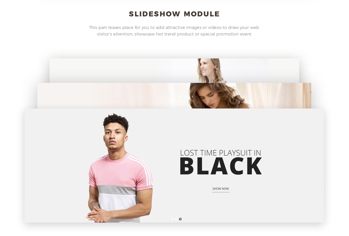 Slide show module for Women Fashion and Lingerie Store