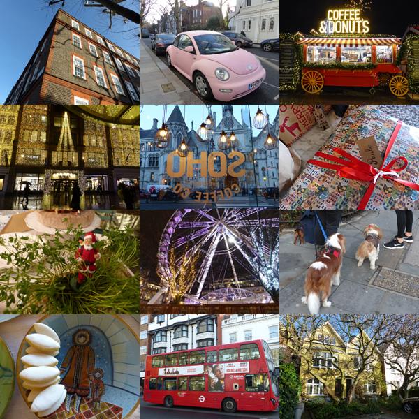 mosaïque Londres et Noël 2018