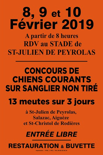 A0 Fluo Orange concours chasse